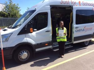 D1 minibus driver training candidate with pass certificate