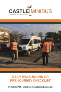 Minibus Walk Around Checklist Booklet Cover