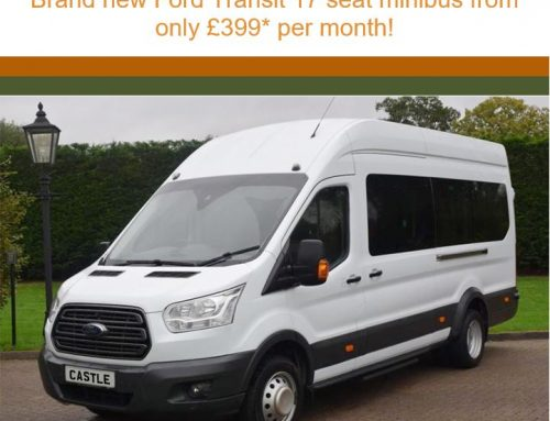 Brand new Ford Transit 17 seat minibus from only £399* per month!