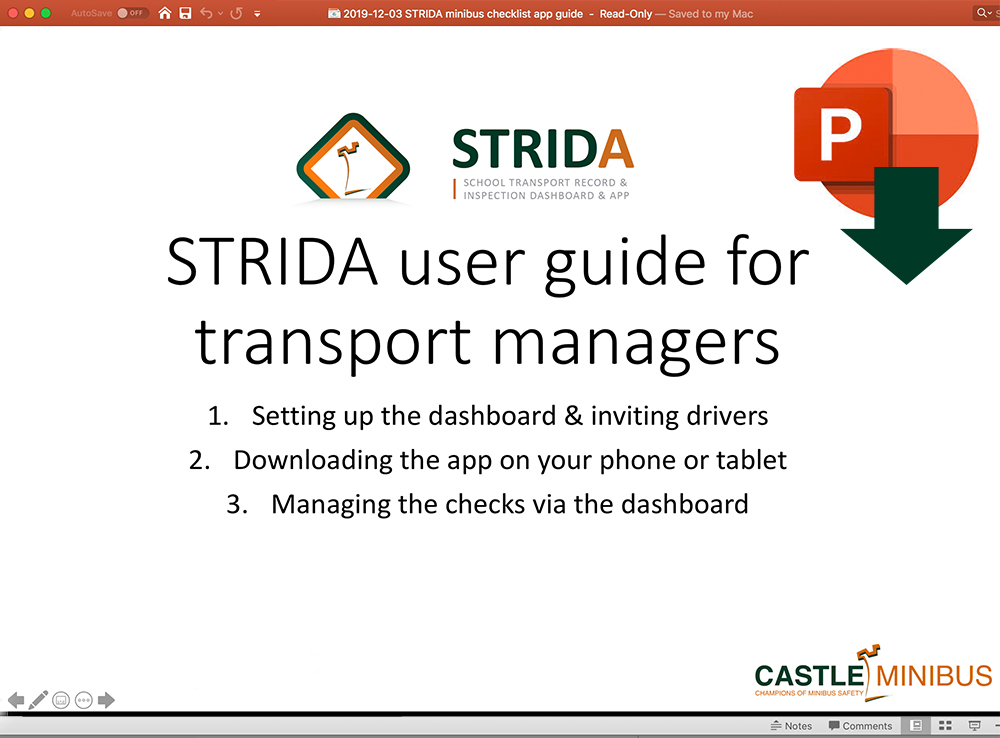 Download the STRIDA registration guide